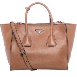 Prada Natural Glace Calf Leather Tote