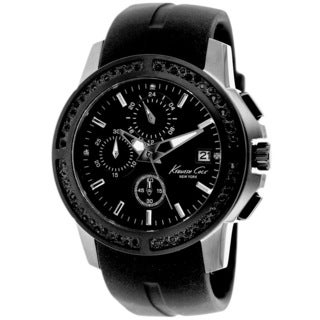 Kenneth Cole Women's New York Black Silicone Watch