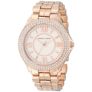 Anne Klein Women's Crystal Bezel Bracelet Watch
