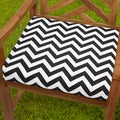 Bristol 19-inch Indoor/ Outdoor Black/ White Chevron Chair Cushion