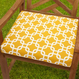 Bristol 19-inch Indoor/ Outdoor Knotted Yellow Chair Cushion