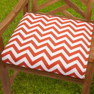 Bristol 20-inch Indoor/ Outdoor Orange Chevron Chair Cushion