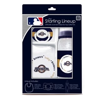 MLB Milwaukee Brewers 3-piece Baby Gift Set