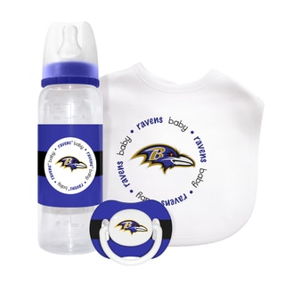 NFL Baltimore Ravens 3-piece Baby Gift Set
