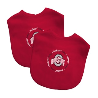 NCAA Ohio State Buckeyes 2-pack Baby Bib Set