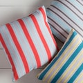 Thin Stripes Outdoor Safe Decorative Throw Pillow