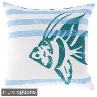 Faded Ocean Crits Outdoor Safe Decorative Throw Pillow