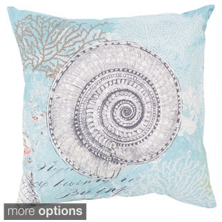 Seashells Outdoor Safe Decorative Throw Pillow