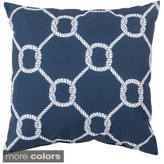 Sailors Circle Knot Indoor/Outdoor Decorative Throw Pillow