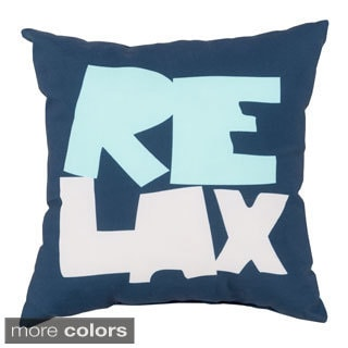 Relax Beach Indoor/Outdoor Decorative Throw Pillow