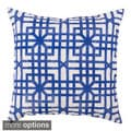 Blue Geometric Outdoor Safe Decorative Throw Pillows