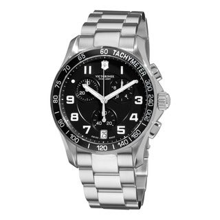 Swiss Army Men's 241494 'Chrono Classic' Black Dial Stainless Steel Bracelet Watch
