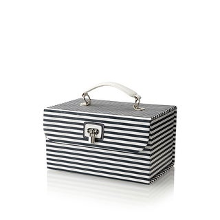 Morelle Navy 'Amanda' Striped Cosmetic Jewelry Case