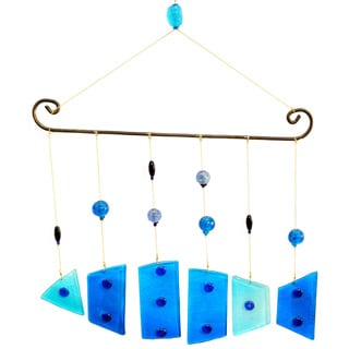Handmade Fish on A Wire Wind Chime (India)