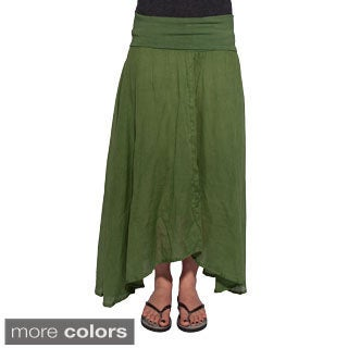 Handmade Women's Cotton Boho Skirt (Nepal)