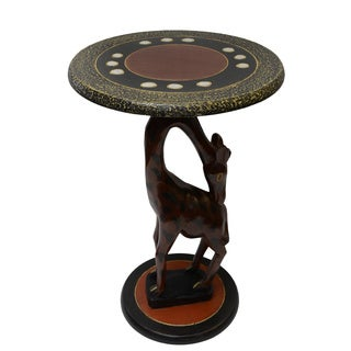 Hand-finished Giraffe Round Table (Ghana)