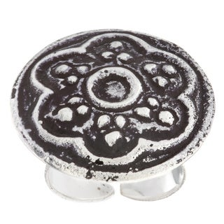Antiqued Silverplated Flower Fashion Ring (India)