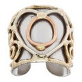 Handmade Mixed Metal Tri-tone Abstract Heart Ring (India)