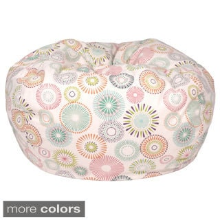 Starburst Pinwheel Pattern Extra Large Cotton Bean Bag Chair