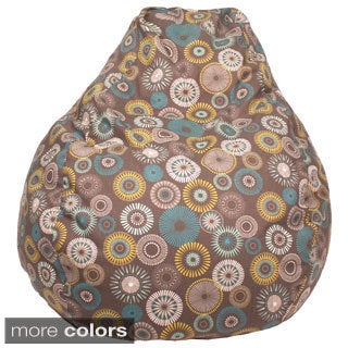 Starburst Pinwheel Pattern Large Teardrop Cotton Bean Bag Chair