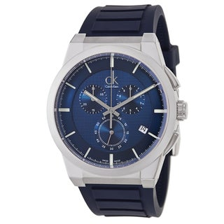 Calvin Klein Men's 'Dart' Navy Chronograph Watch
