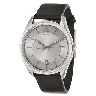 Calvin Klein Men's 'Masculine' Black Leather Swiss Quartz Watch