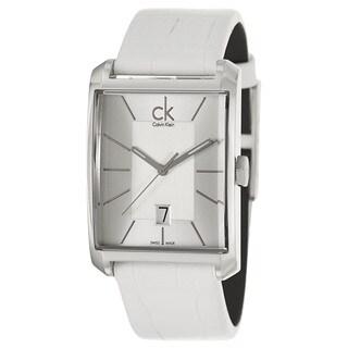 Calvin Klein Men's 'Window' Stainless Steel Swiss Quartz Watch