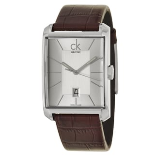 Calvin Klein Men's 'Window' Stainless Steel Brown Swiss Quartz Watch