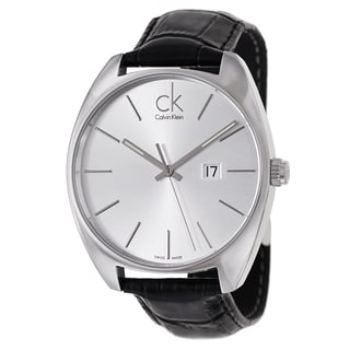 Calvin Klein Men's 'Exchange' Stainless Steel Black Swiss Quartz Watch