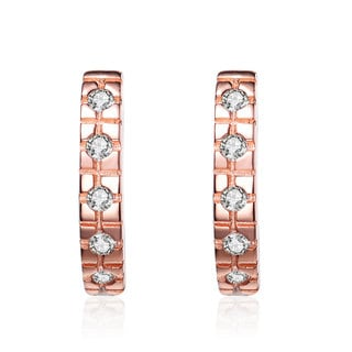 Collette Z Roseplated Sterling Silver Cubic Zirconia Mini Huggie Earrings