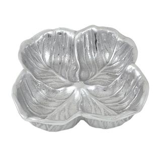 Handcrafted Aluminum Leaf Serving Bowl (India)