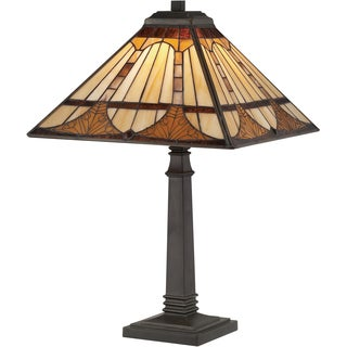 Tiffany Timber with Vintage Bronze Finish Table Lamp
