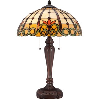 Tiffany Bishop with Russet Finish Table Lamp