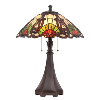 Tiffany Moore with Western Bronze Finish Desk Lamp