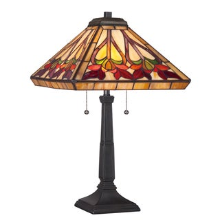 Tiffany Ross with Vintage Bronze Finish Table Lamp