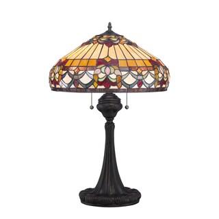 Belle Fleur with Vintage Bronze Finish Table Lamp