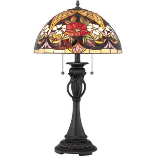 Tiffany Bouquet with Vintage Bronze Finish Table Lamp