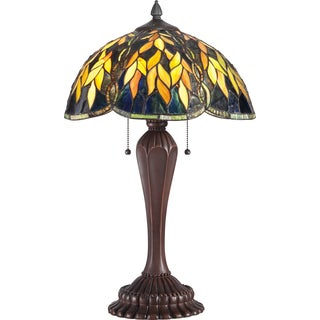 Tiffany Grove with Russet Finish Table Lamp