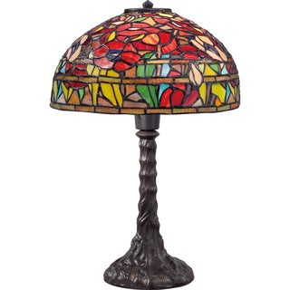 Tiffany Wild Garden with Imperial Bronze Finish Table Lamp
