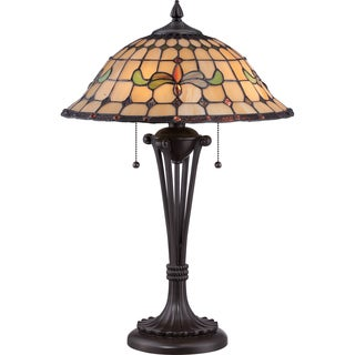 Tiffany Harbor with Western Bronze Finish Table Lamp