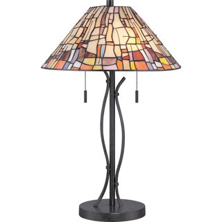 Tiffany Stinson with Vintage Black Finish Table Lamp