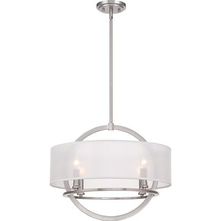 Portland with Brushed Nickel Finish 4-light Pendant