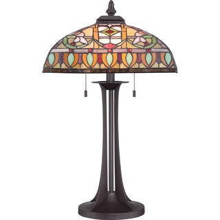 Tiffany Chantal with Western Bronze Finish Table Lamp