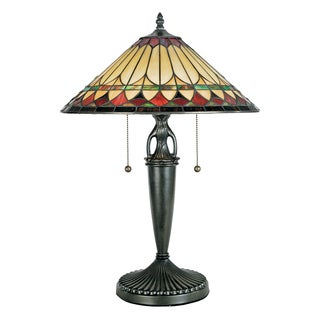 Tiffany Westlake with Vintage Bronze Finish Table Lamp