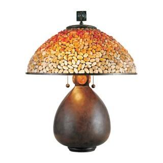 Pomez with Cinnamon Finish Table Lamp
