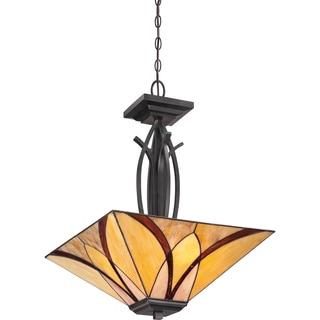 Asheville with Valiant Bronze Finish 3-light Pendant
