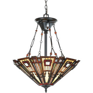 Classic Craftsman with Valiant Bronze Finish 3-light Pendant