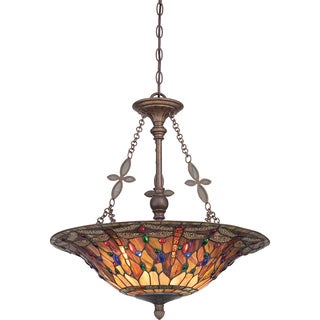 Jewel Dragonfly with Malaga Finish 4-light Pendant