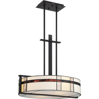 Luxe with Mystic Black Finish 4-light Pendant