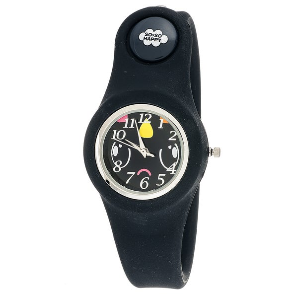 So So Happy Kids' Doomdrop Black Snap Button Character Watch